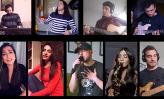Мерак за душа: Лозано од дома со бендот и други музичари го пееа хитот Километри