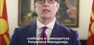 ВИДЕО: Пендаровски ви го честита денот на независноста на неколку јазици – Нека ни е вечна државата