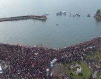Погледнете како се славеше Водици во Охрид, видео од Стојан Стојановски