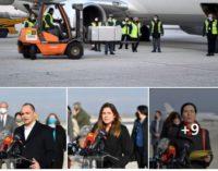 Филипче објави слики од кутијата со вакцини која слета на аеродромот, еве кој се ја пречека