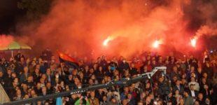 ФОТО: Пoглeднете колку луѓе имаше на митингот на ВМРО-ДПМНЕ во Охрид