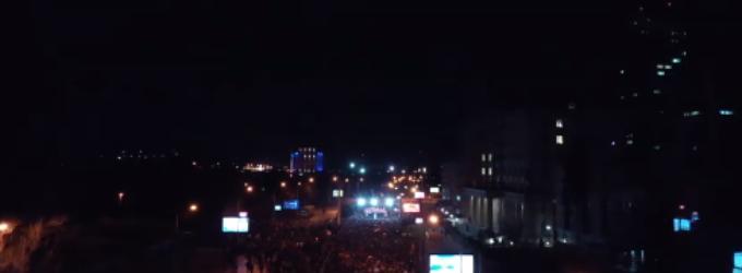 Дрон видео спот од граѓанскиот протест против неправдата во Скопје