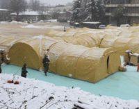 Исчистен снегот од монтажната болница, градоначалникот Шилегов објави фотографии