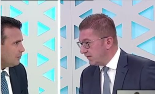 ВИДЕО: Мицкоски му држи лекција на Заев, а тој го гледа со очите