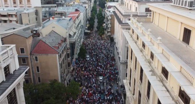 ФОТО: Еве колку народ имаше на пpoтecтот на опозицијата во главниот град