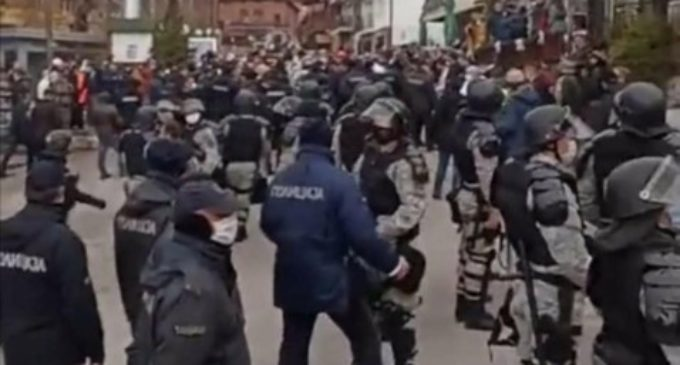 ФОТО: Еве како полицијата без маски интервенираше во Вевчани
