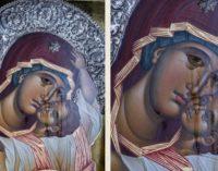 ФОТО: Веќе 6 месеци плаче иконата на Св.Богородица во храмот на Св.Димитриј, во предградието на Атина